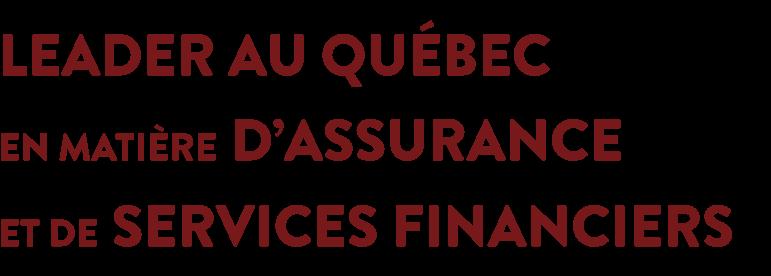 Leader au Québec